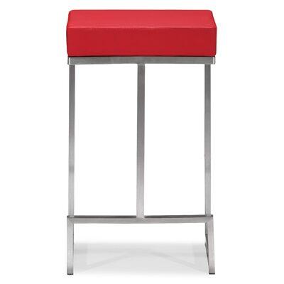 Jamal 24 Bar Stool Upholstery: Red