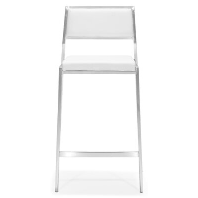 Dickson 26 Bar Stool Upholstery: White