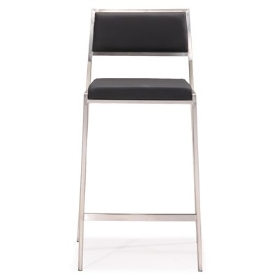 Dickson 26 Bar Stool Upholstery: Black