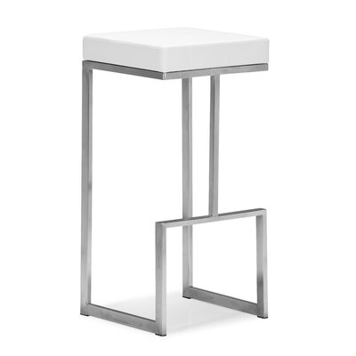Jamal 30 Bar Stool Color: White