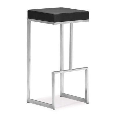 Jamal 30 Bar Stool Color: Black