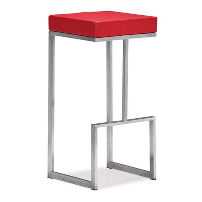 Jamal 30 Bar Stool Color: Red