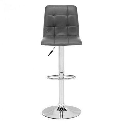 Galvan Adjustable Height Bar Stool Upholstery: Gray