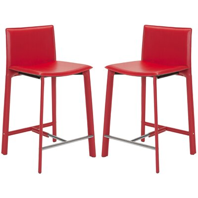 Tripp 24 Bar Stool Finish: Red