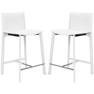 Tripp 24 inch Bar Stool Finish: White