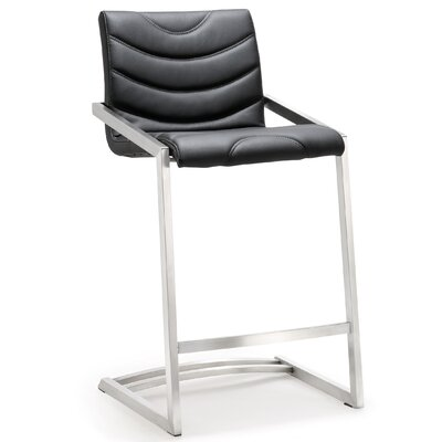 Braunstein 26 Bar Stool Upholstery: Black