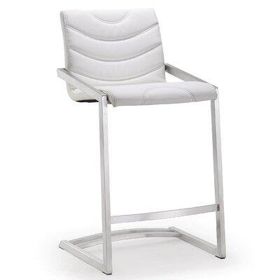 Braunstein 26 Bar Stool Upholstery: White