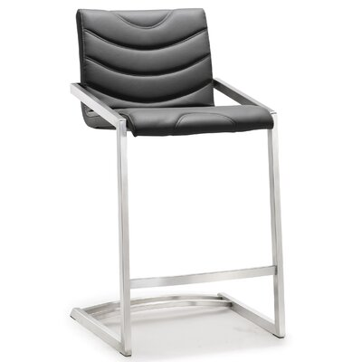 Braunstein 26 Bar Stool Upholstery: Gray