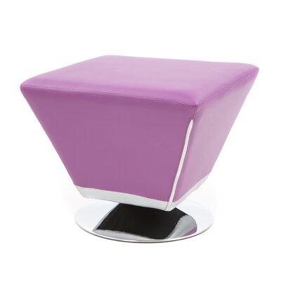 Ansari Cocktail Ottoman Upholstery: Purple