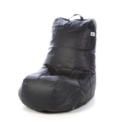 Vinyl Bean Bag Lounger Upholstery: Black Matte