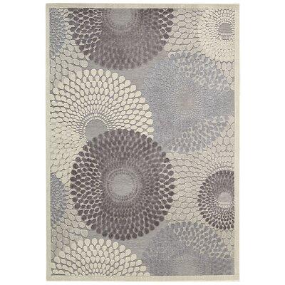 Asa Grey Area Rug Rug Size: 67 x 96