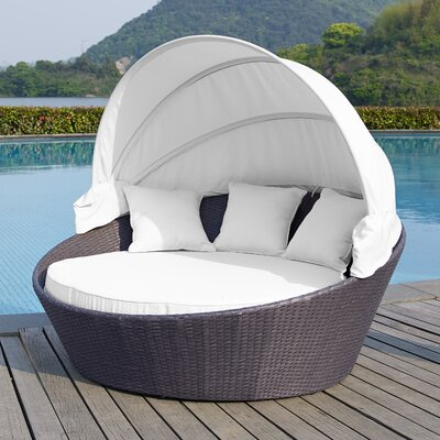 Ryde Daybed with Cushion Finish: Grey, Fabric: Egg Shell