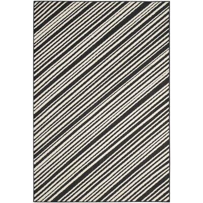 Shaun Black Indoor/Outdoor Area Rug Rug Size: 53 x 77