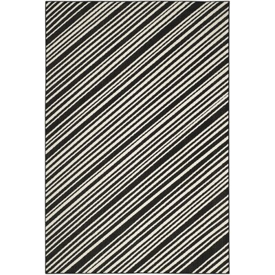 Shaun Black Indoor/Outdoor Area Rug Rug Size: 67 x 96