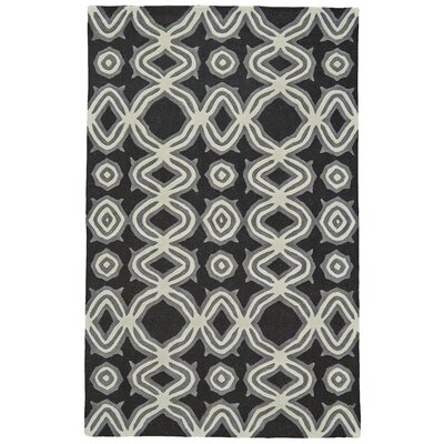 Hutchinson Hand-Tufted Black Area Rug Rug Size: 96 x 136
