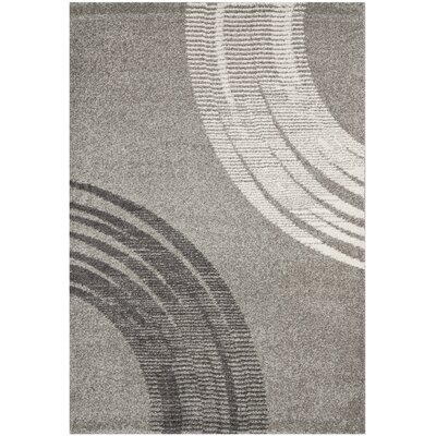 Kenzo Light Gray Area Rug Rug Size: Rectangle 53 x 77