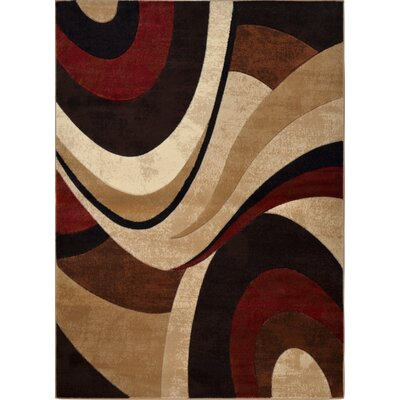 Ezekiel Brown/Beige Area Rug Rug Size: 33 x 47
