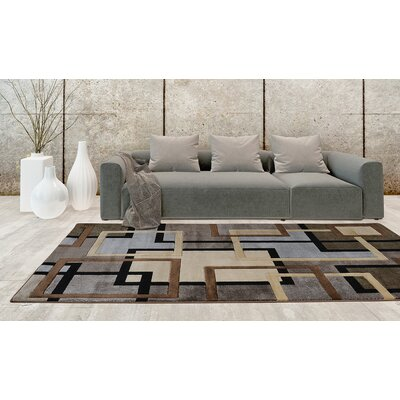 Ezekiel Brown/Gray Area Rug Rug Size: 3'3