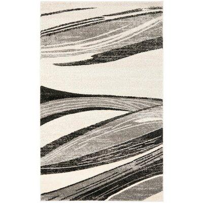 Kenji Light Grey / Ivory Area Rug Rug Size: 3 x 5