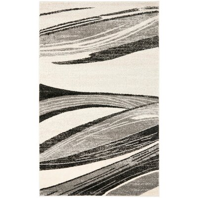 Kenji Light Grey / Ivory Area Rug Rug Size: 26 x 4
