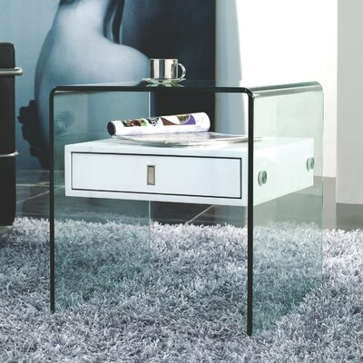 Joaquin 1 Drawer Nightstand Color: White