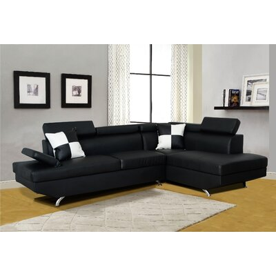 Brisson Sectional Upholstery: White, Orientation: Left Hand Facing