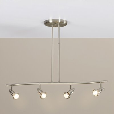 Antwan 4-Light Full Track Lighting Kit Finish: Brushed Nickel