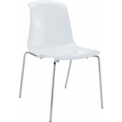 Arledge Indoor Side Chair (Set of 4) Finish: Glossy White