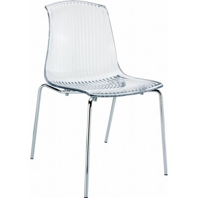 Arledge Indoor Side Chair (Set of 4) Finish: Transparent Clear