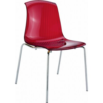 Arledge Indoor Side Chair (Set of 4) Finish: Transparent Red