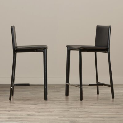Tripp 24 Bar Stool Finish: Black