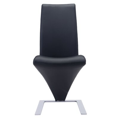Peter Side Chair Upholstery: Black