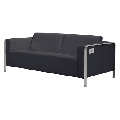 Beatty Sofa Upholstery: Black