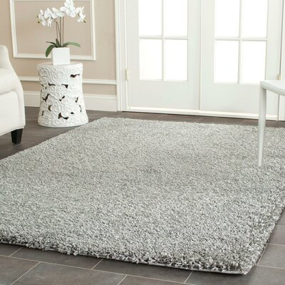Page Silver Shag Area Rug Rug Size: Rectangle 4 x 6