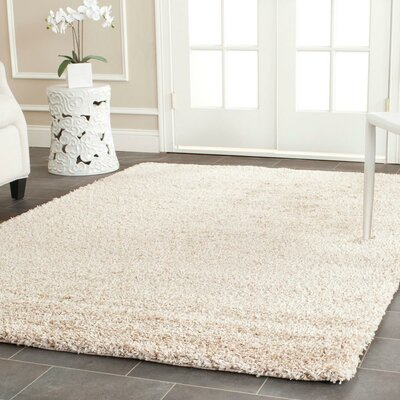 Page Beige Shag Area Rug Rug Size: Rectangle 8 x 10