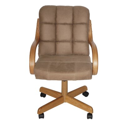 Huntingburg Mid-Back Dining Caster Chair with Arms
