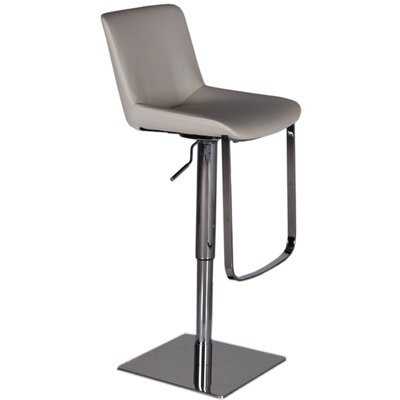 Robin Adjustable Height Swivel Bar Stool Upholstery: Grey