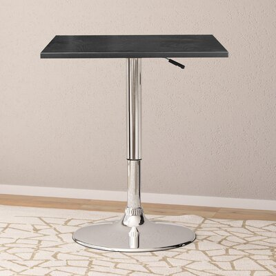 Philip Adjustable Pub Table Top Color: Black