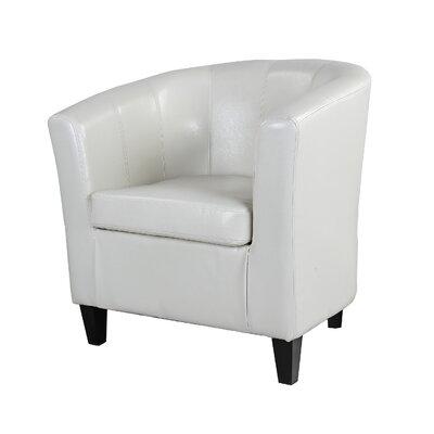 Olive Barrel Chair Color: White WADL3787 27437072