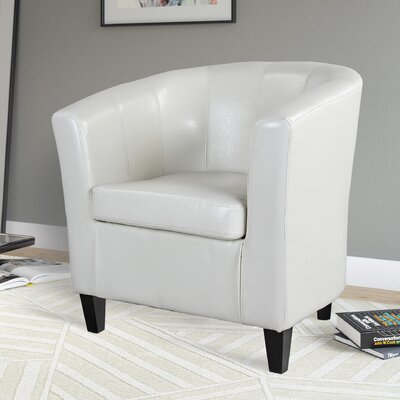 Gravesham Barrel Chair Upholstery: White