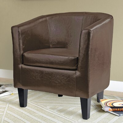 Gravesham Barrel Chair Upholstery: Brown