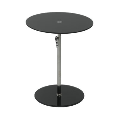 Wilbert Glass End Table Color: Black