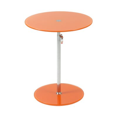 Wilbert Round Glass Side Table Finish: Orange