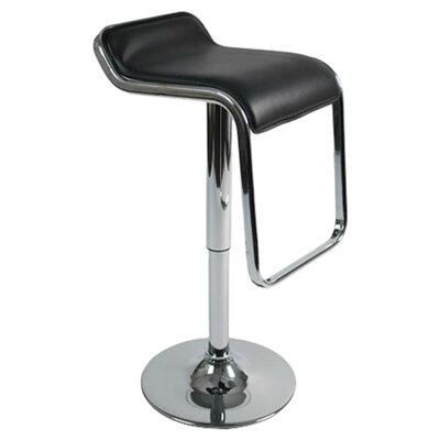 Kinton Adjustable Height Swivel Bar Stool Upholstery: Black
