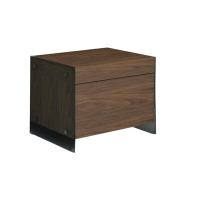 Andrew 1 Drawer Nightstand Finish: Walnut Veneer