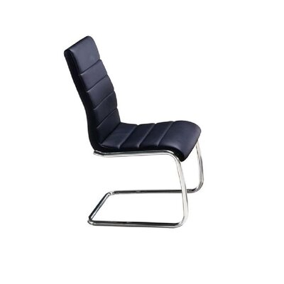 Randal Side chair Upholstery: Black