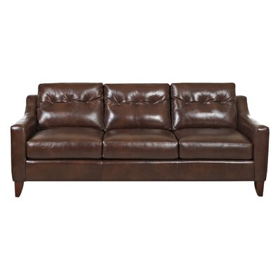 Levell Leather Sofa Upholstery: Brown