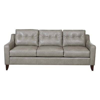 Levell Leather Sofa Upholstery: Grey