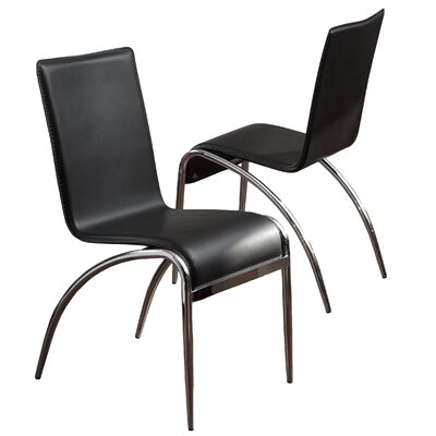 Arroyo Side Chair Upholstery: Black