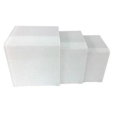 Cherrelle 3 Piece Nesting Table Set Color: White Glass